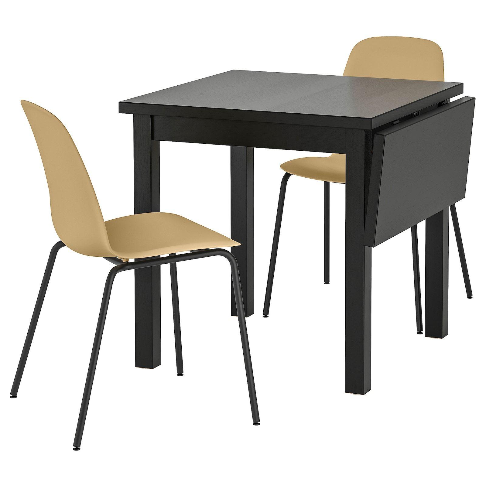 Nordviken Leifarne Tisch Und 2 Stuhle Schwarz Broringe Schwarz Ikea Osterreich In 2020 Kleiner Esstisch Kleiner Tisch Und Stuhle Stuhle