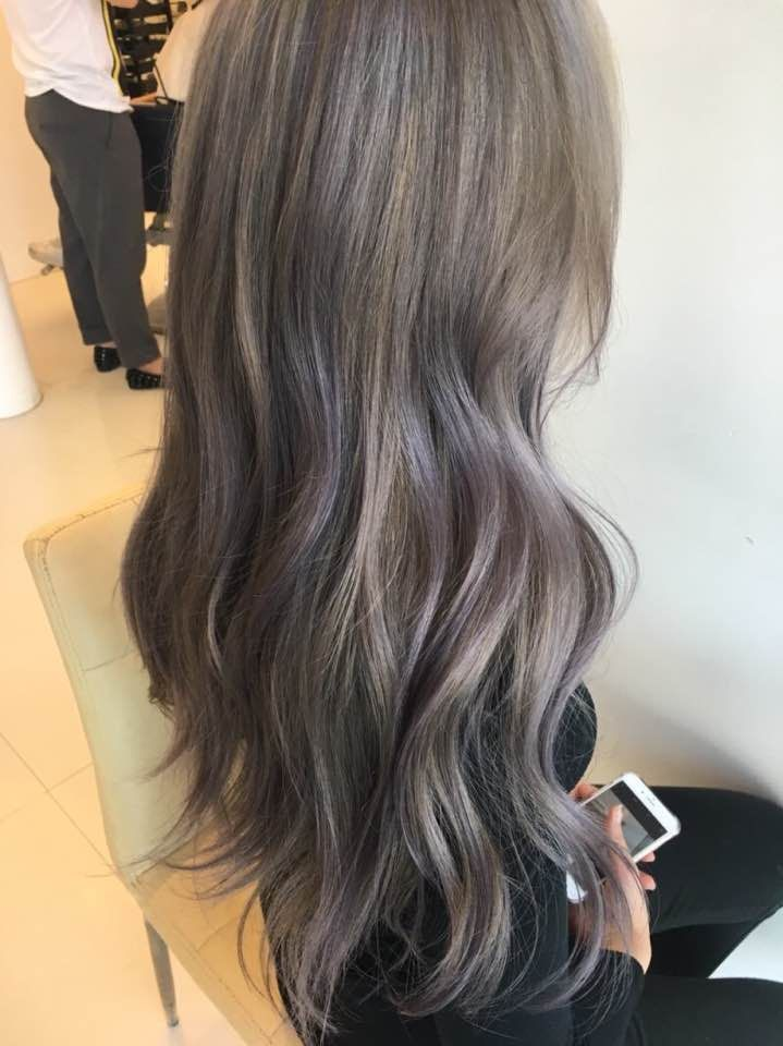 2017 Hair Color Trend Lavender Ash Korean Kpop Idol Hairstyles For Girls Kpopstuff Korean Hair Color Hair Color Asian Ash Hair Color
