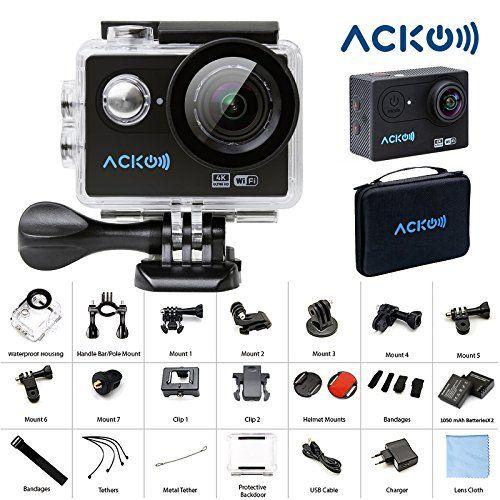 Acko 4K Wifi Sports Action Cam Camcorder Ultra HD Digital Camera DV ...