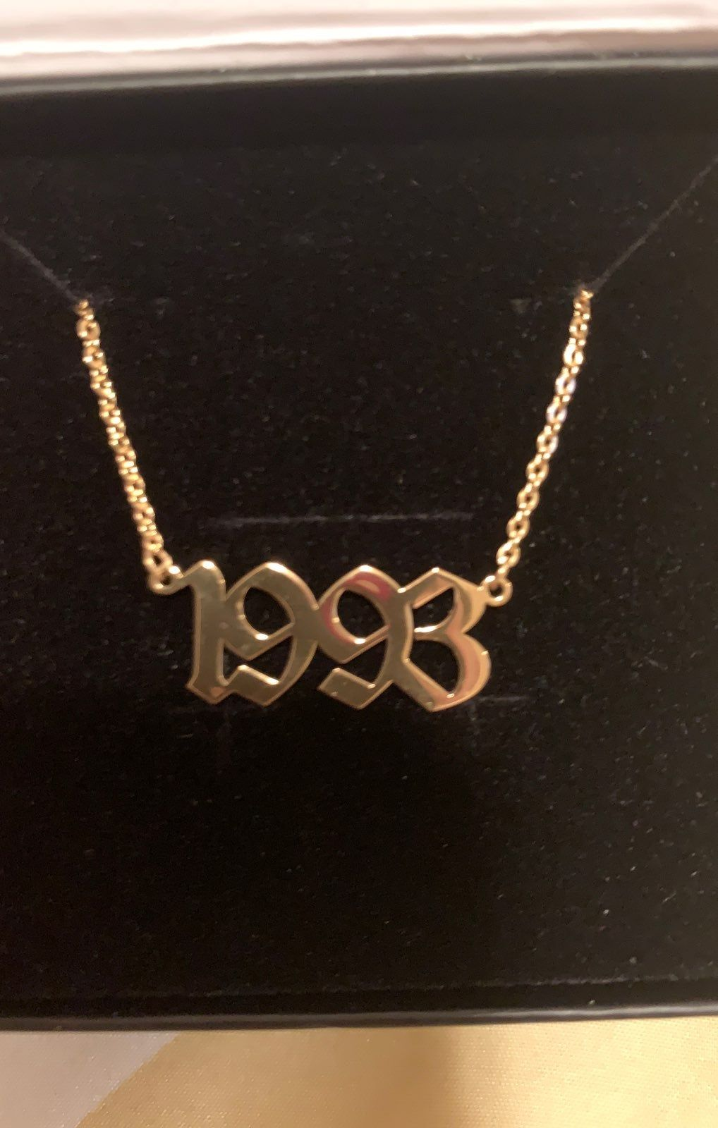 1993 Birth Year Custom Necklace 18 Chain Gold New In Box 20 Obo Free Shipping Diamond Choker Necklace Necklace Diamond Choker
