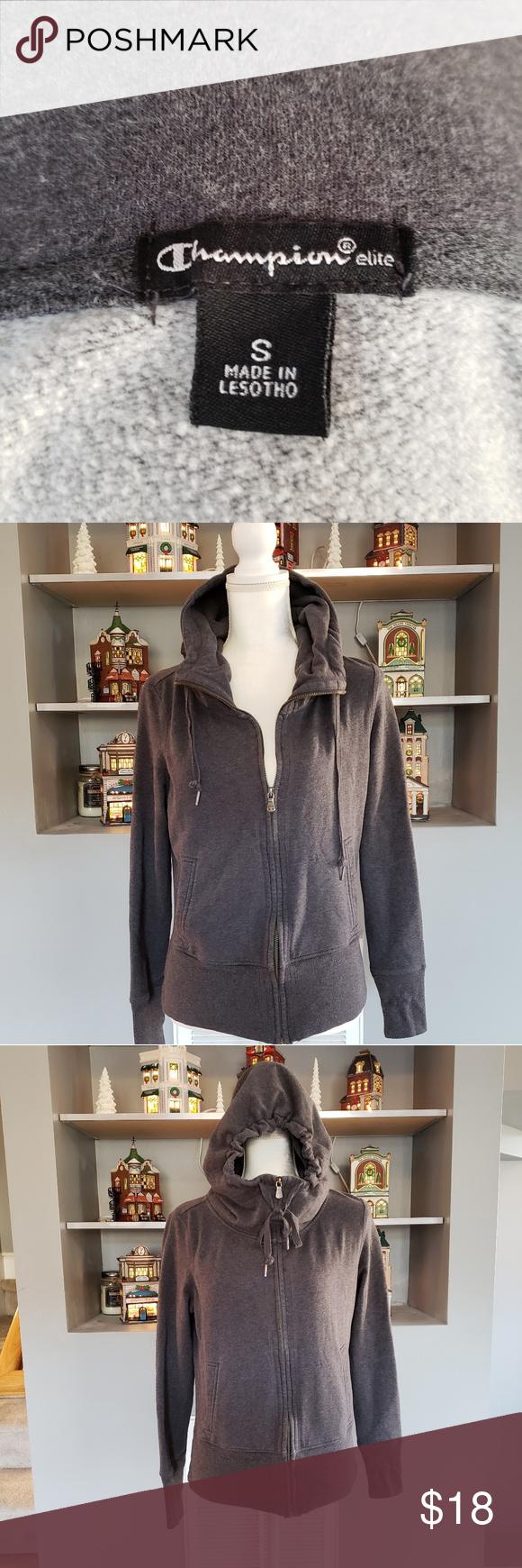 Champion Sweatshirt Hoodie Zip Up Small Champion Sweatshirt Sweatshirts Hoodie Clothes Design [ 1740 x 580 Pixel ]