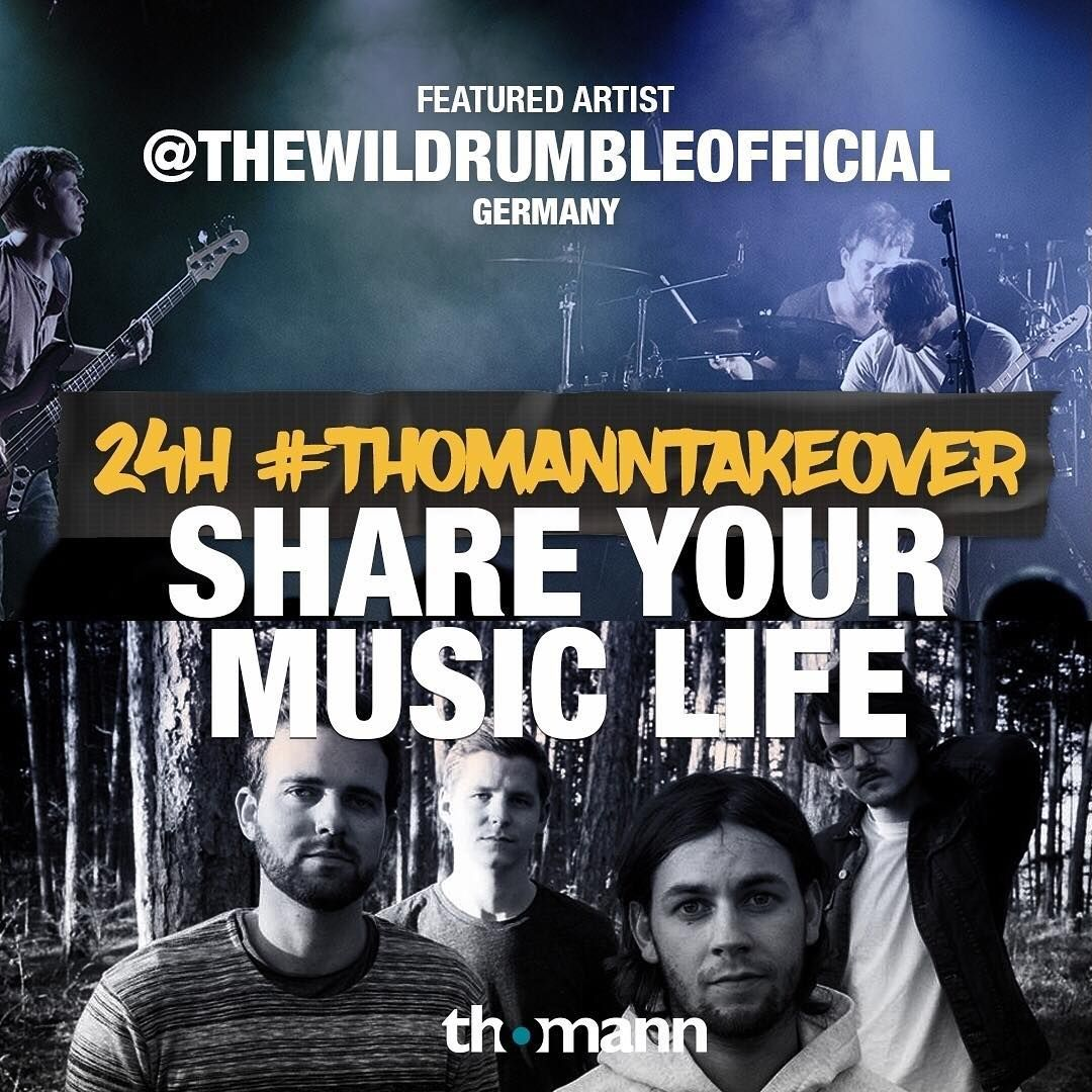 Today is #ThomannTakeover with the guys from @thewildrumbleofficial ! Want to know what's like to spend a day with a bunch of cool rockers? Stay tuned to find out! 🤘 🔥 Want to apply for the next Takeover? Send us a direct message with your best music-inspired pictures and we will get back to you - just drop us a DM (Direct Message) right here on Insta!  #thomann #thomanntakeover #thewildrumble #musicisourpassion