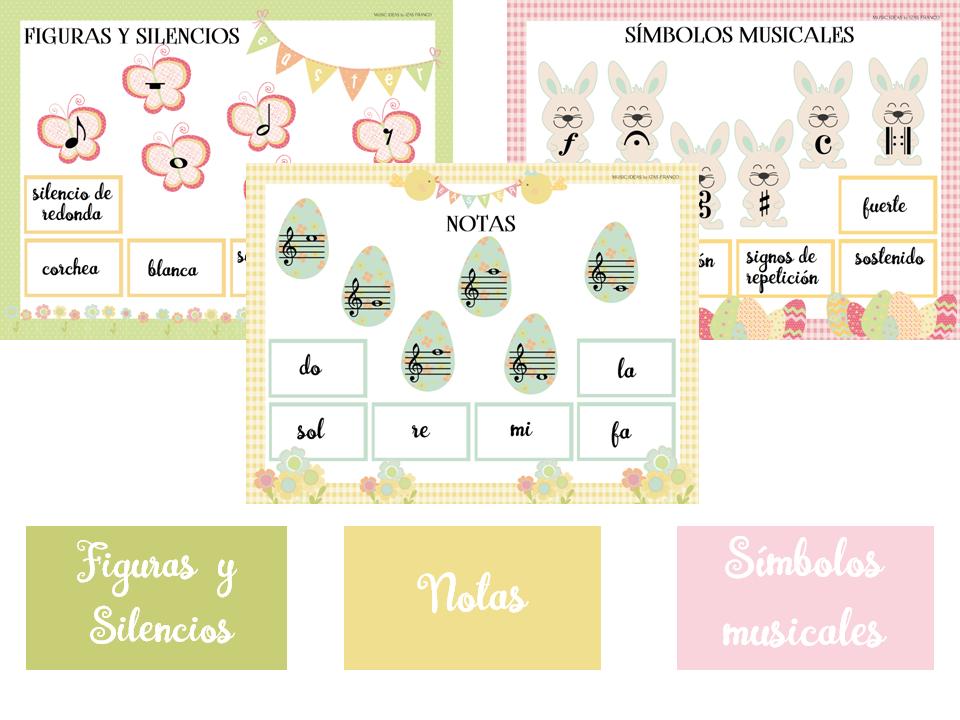 Pack De Fichas De Teoría Musical Para Niños Identificación De Figuras Y Silencios Claves Y Símbolos Musicales Musical Teoría Musical Actividades Musicales