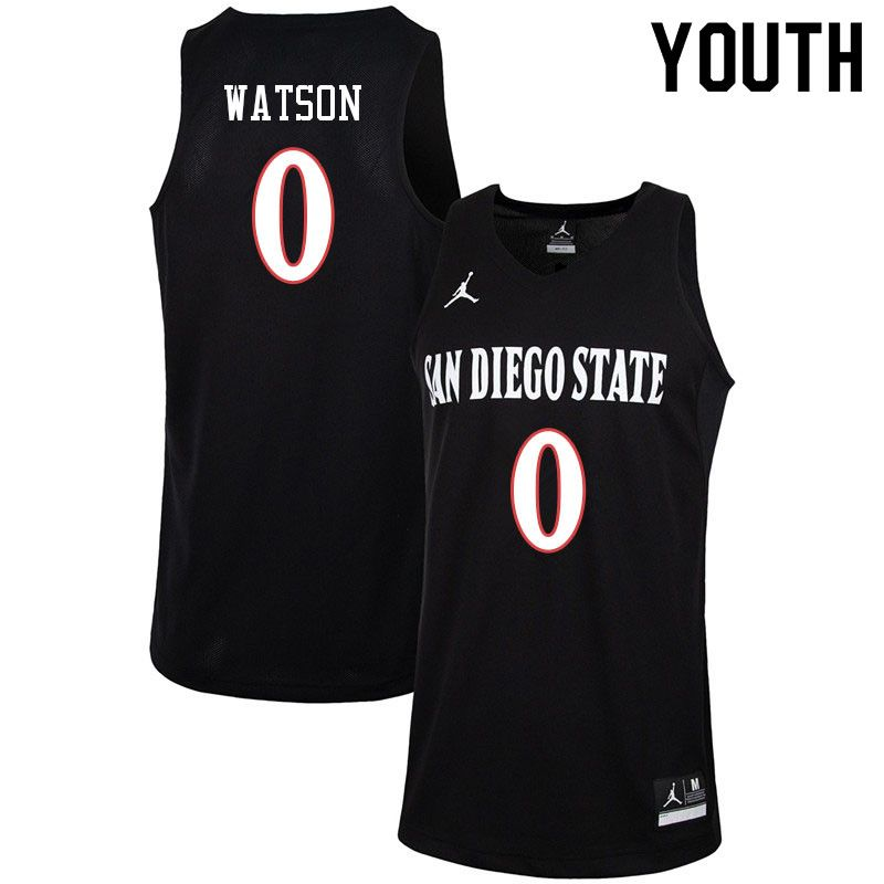 6ab1975bb338 Jordan Brand Youth  0 Devin Watson San Diego State Aztecs College  Basketball Jerseys-Black