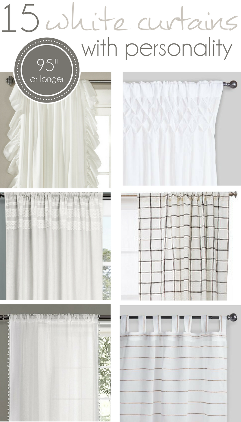 15 Long White Curtains with Personality | Farmhouse curtains ... for Off White Bedroom Curtains  34eri