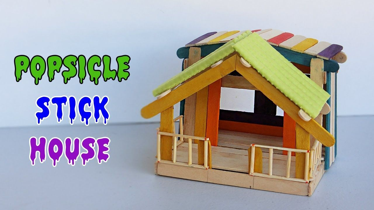 House design using popsicle sticks - Today We Will Make Our Tenth Fairy House From Popsicle Sticks And Bbq Sticks New Design For This Popsicle Stick Hous