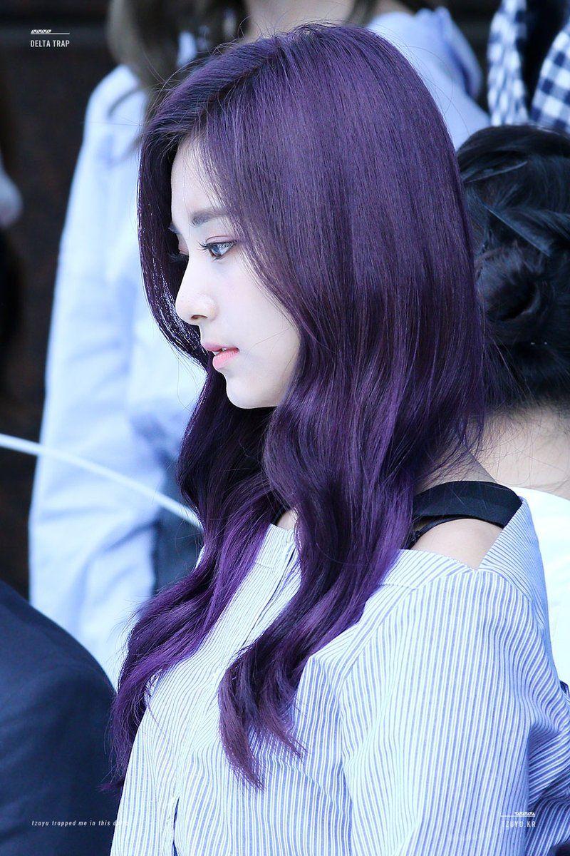 Hey Ladies Photo Purple Hair Hair Beauty Most Beautiful Faces