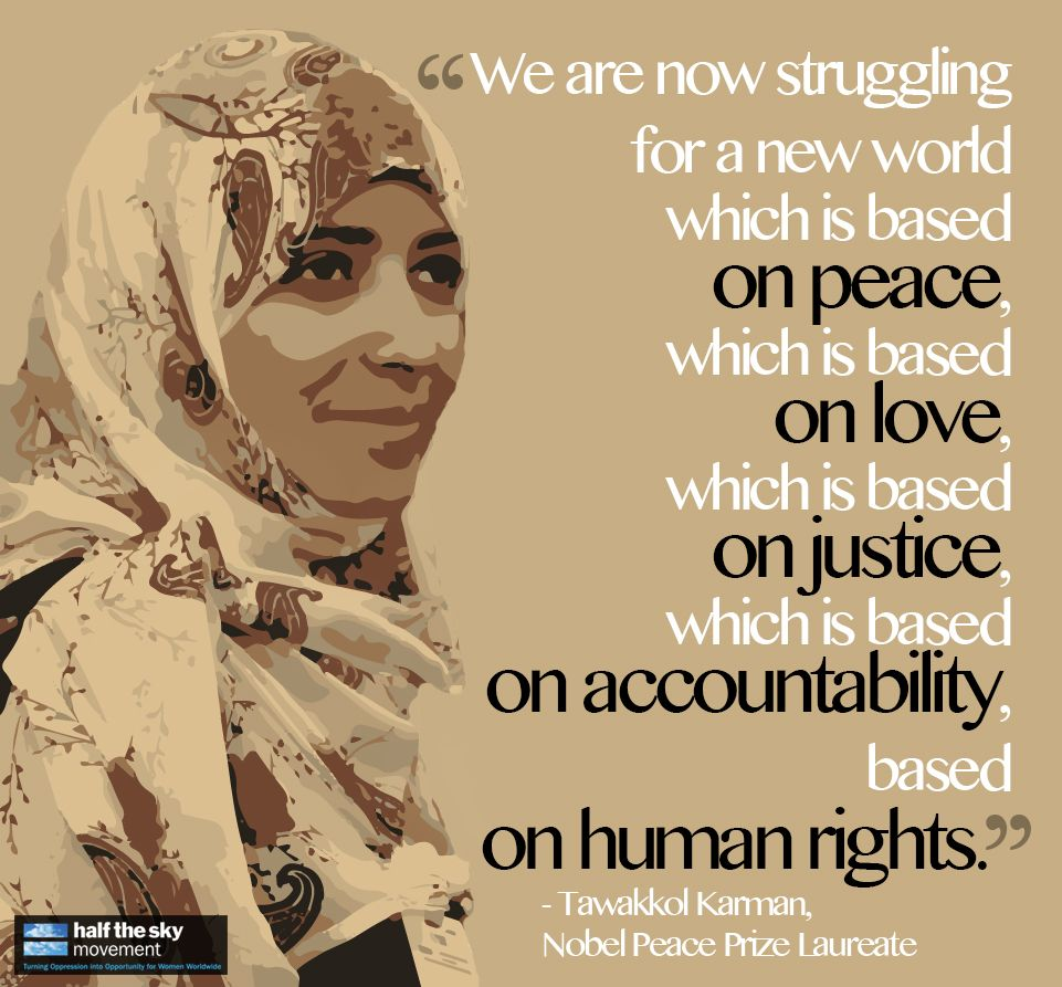 Women's Rights Quotes We Are Now Struggling For A New World Which Is Based On Peace Which .