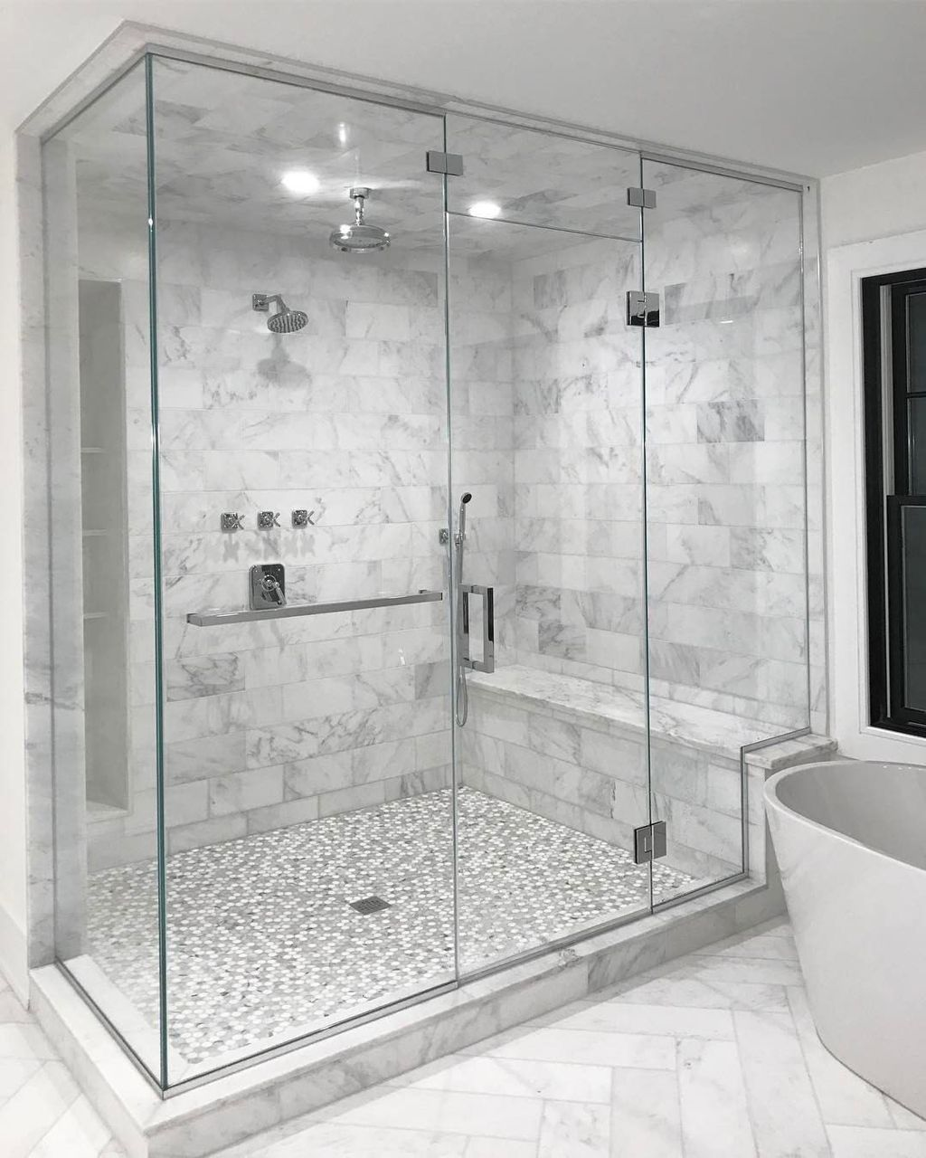 42 Perfect Shower Design Ideas To Remodel Your Bathroom Bathroom Remodel Shower Bathroom Interior Design Master Bathroom Shower