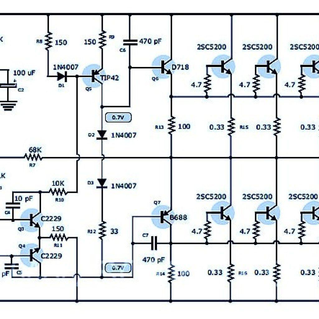 400 Watt 70 Volt Amplifier Schematic & PCB Layout Design ...