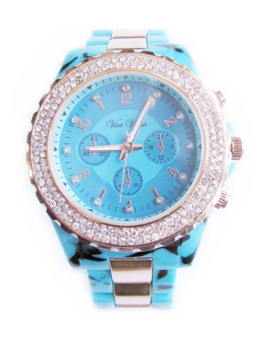 Miss Intuition - Betty Blue Rhinestone Watch