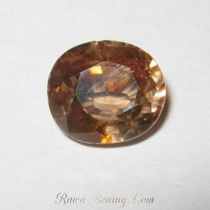 Zircon Yellowish Orange 2.59 carat
