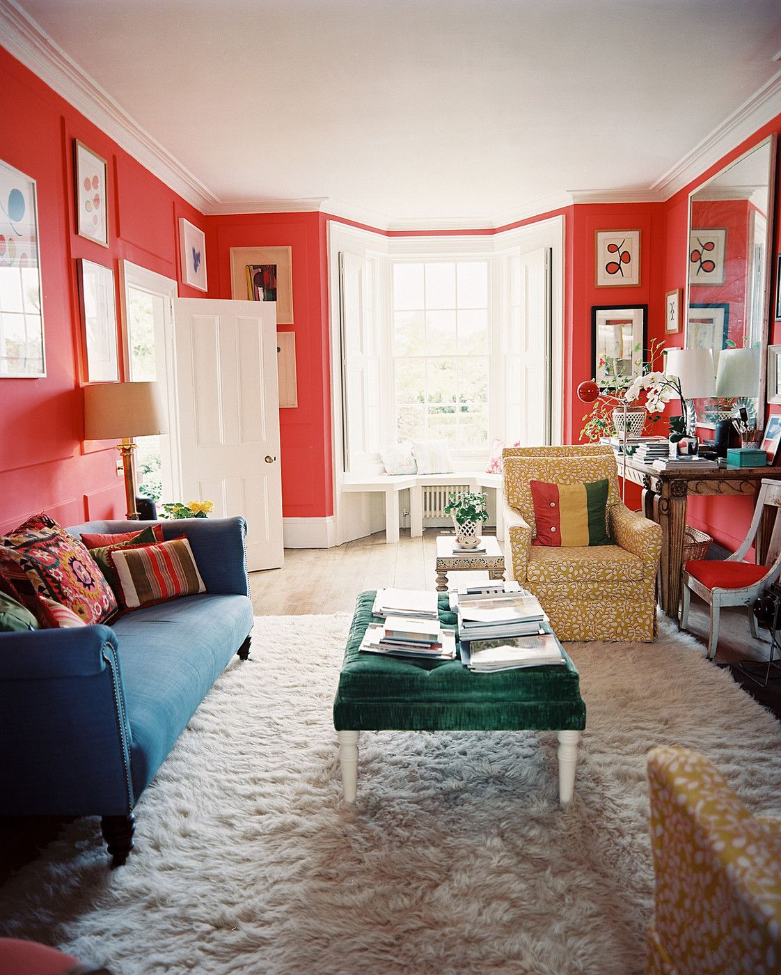 Traditional Photos Living Room Photos Living Room Red Pink Living Room Walls