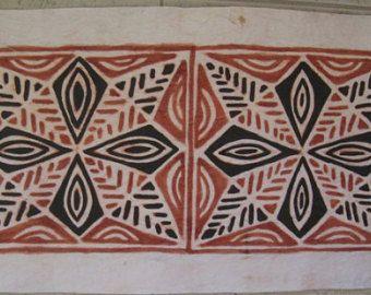 Bark Cloth Polynesia Polynesian Tapa Cloth Barkcloth Han Dmade Art