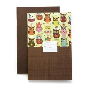 Organize your life with this fancy workbook, made from 100% post-consumer recycled paper -- no trees were used! This book has 32 pages of lined paper.