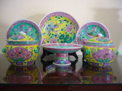 Peranakan Porcelain From Singapore Tea Party Porcelain Pottery