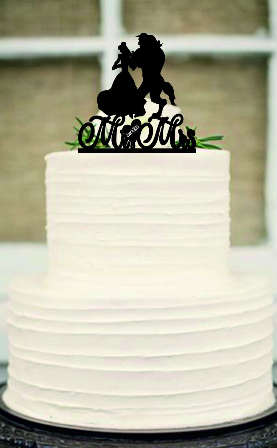 silhouette wedding cake topper, Unique wedding cake topper with ...