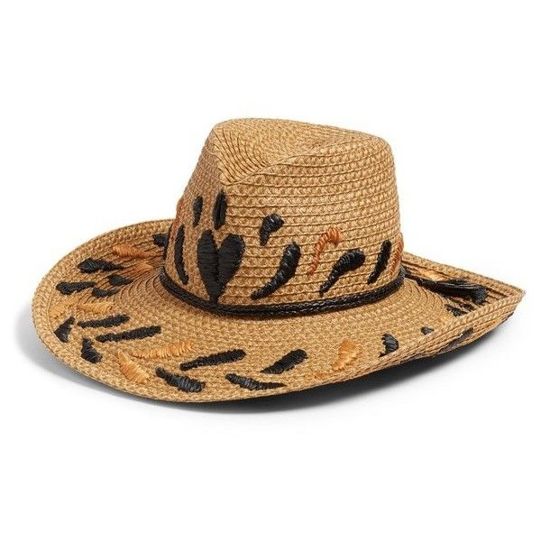 6c718c7b067 Women s Eric Javits Corsica Squishee Western Hat (£395) ❤ liked on Polyvore  featuring