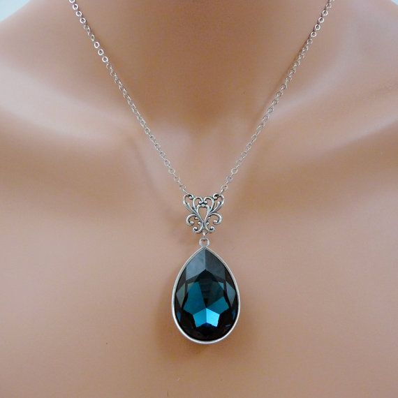 Swarovski Montana Blue Crystal Vintage Style by Crystalyte925 ...