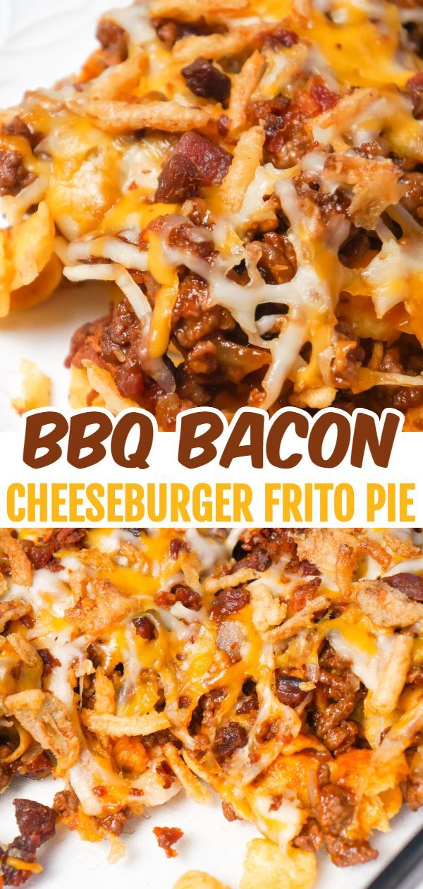 BBQ Bacon Cheeseburger Frito Pie - This is Not Diet Food