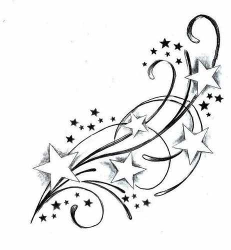 Tatuaże Wzory Gwiazdki 793 Tattoos Star Tattoos Tattoos