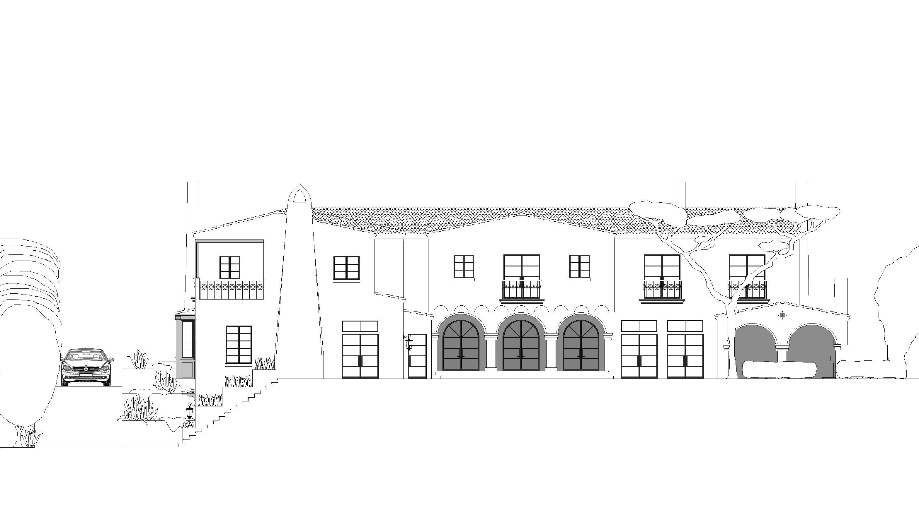 Rear Elevation | Spanish Revival 2 | Pinterest
