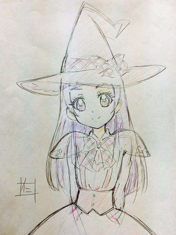 dessin manga sorciere