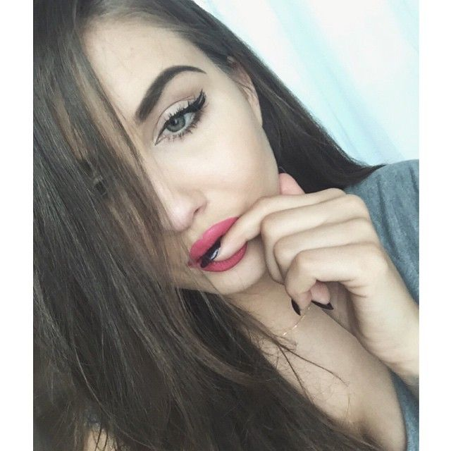 girl beauty hair eyes lips fashion outfit