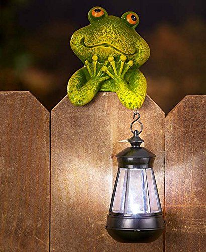 Amazon.com : Solar Animal Fence Friends (Frog) : Patio, Lawn & Garden