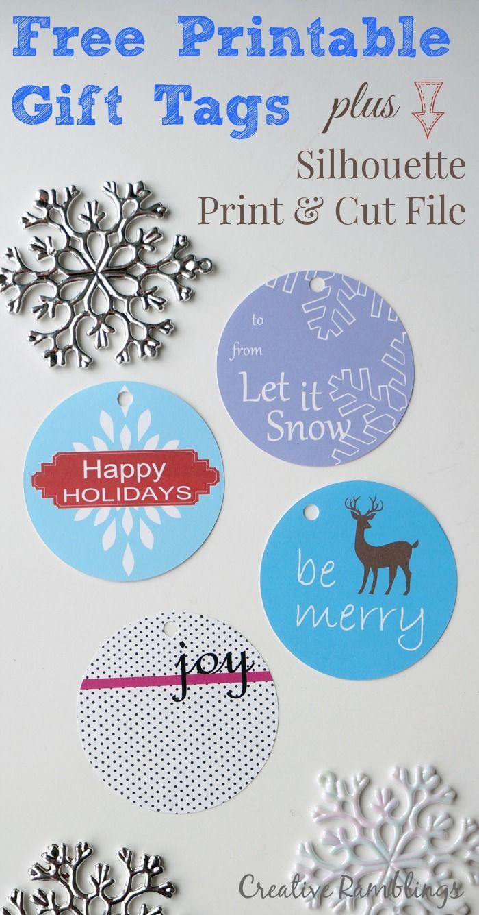 Printable Gift Tags and {HUGE} Silhouette Sale