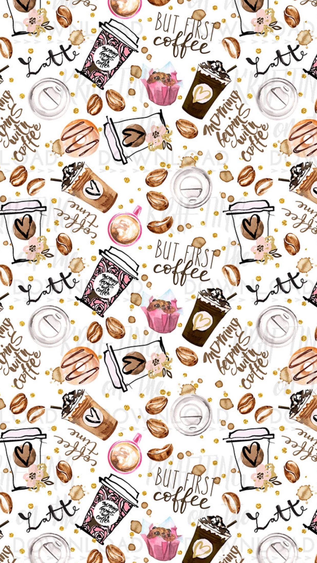 Wallpaper celular random wallpapers aesthetic in - Cute coffee wallpaper ...