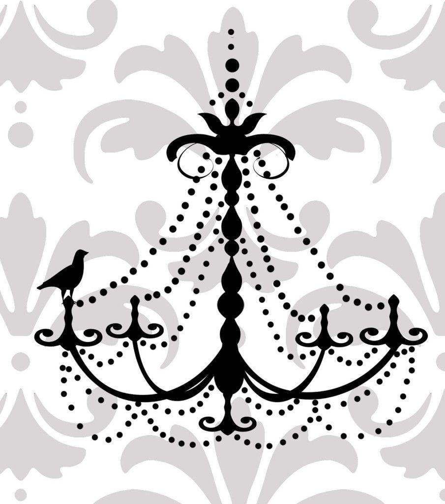 Black chandelier wall decal lih 99 black chandelier black chandelier wall decal mozeypictures Images