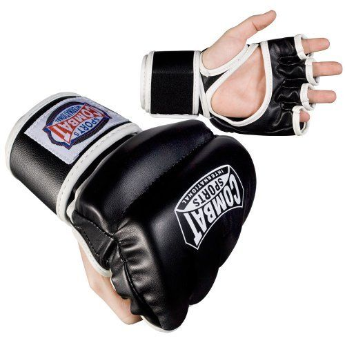 Combat Sports MMA Hybrid Sparring Gloves (Regular) by Combat. $18.99. Hybrid style MMA gloves are durable enough for training with the necessary support for competition. Thick segmented padding across the knuckles and back of the hand Open palm for full mobility and grip Wrap-around hook-and-loop wrist strap for better wrist stability and protection Synthetic leather construction for resiliency