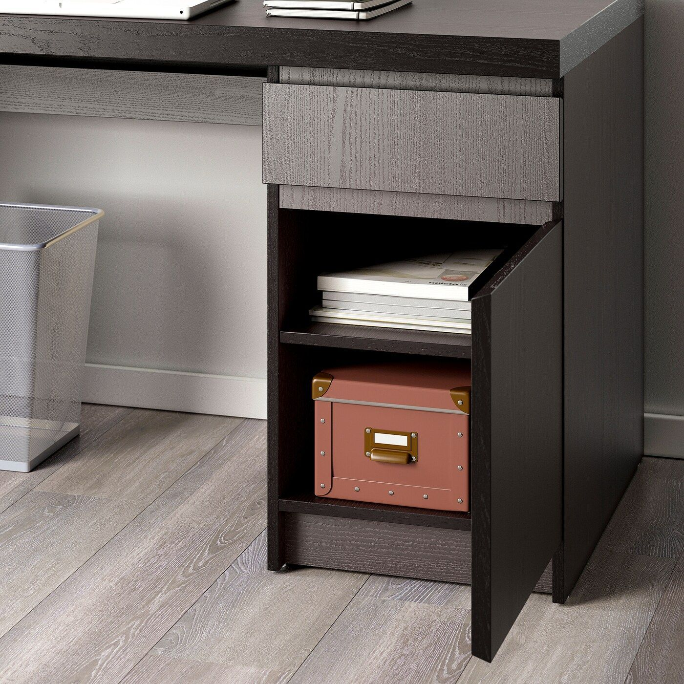 Ikea Malm Schreibtisch Holz