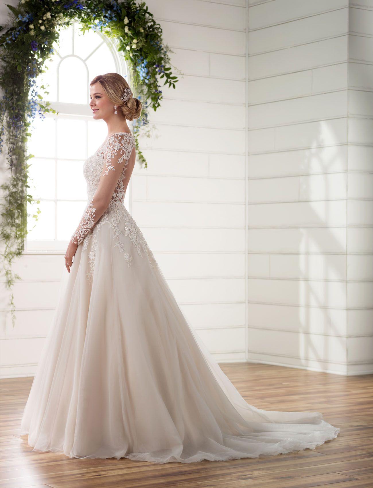 3c3a190607fe Essense of Australia    illusion lace long sleeve dress