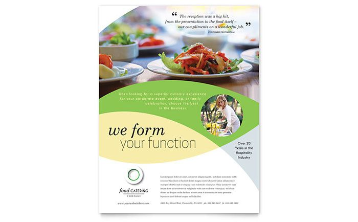 Food Catering Flyer Design Template By Stocklayouts  Recipes To