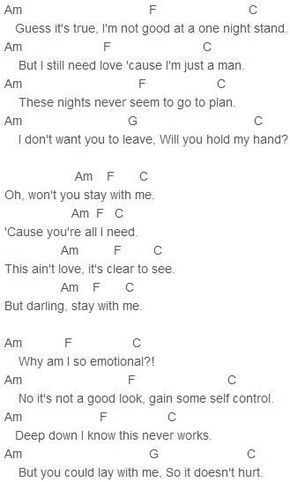 Sam Smith Stay With Me Chords Love Playing It On The Guitar