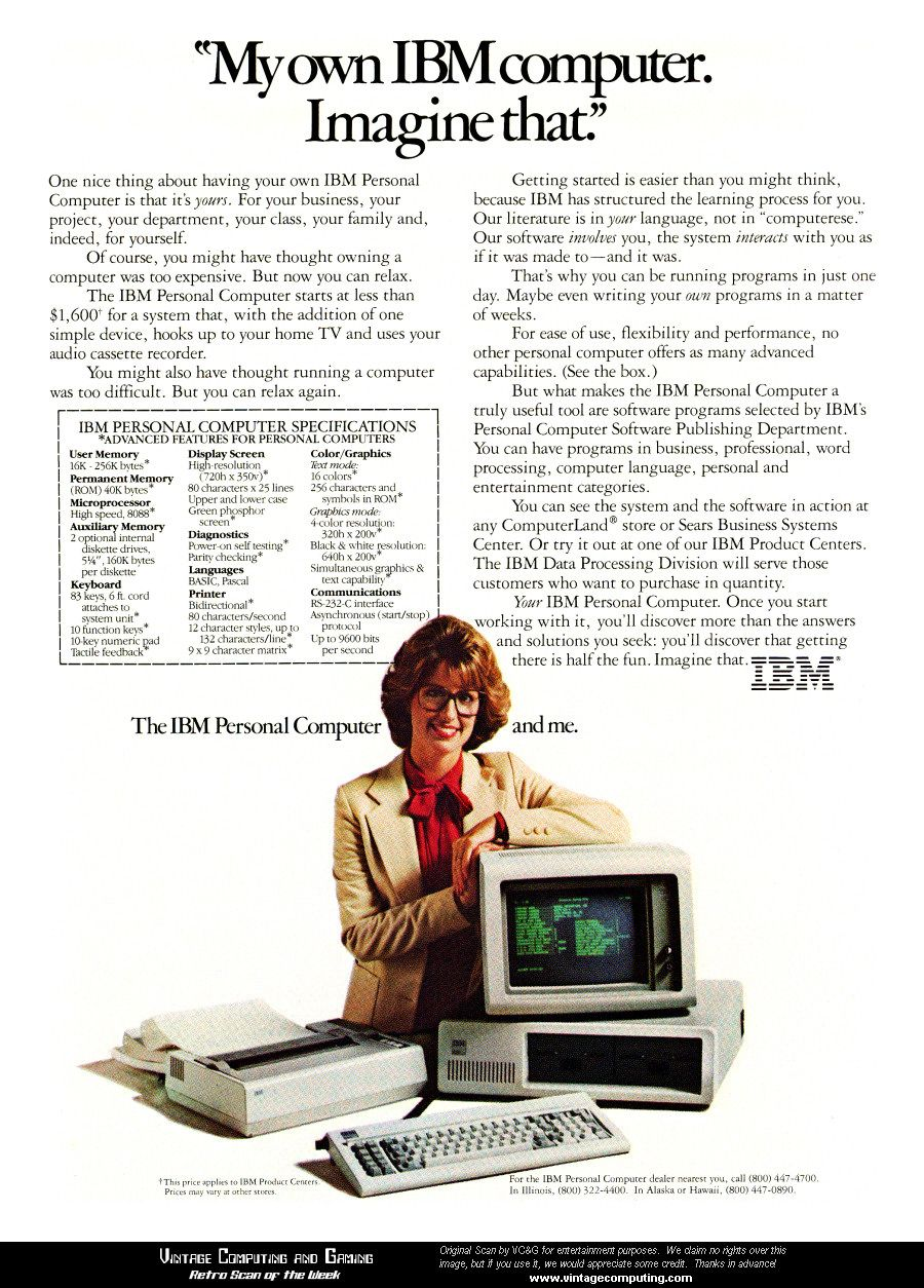 Early IBM PC Advertisement | Tech History | Old computers