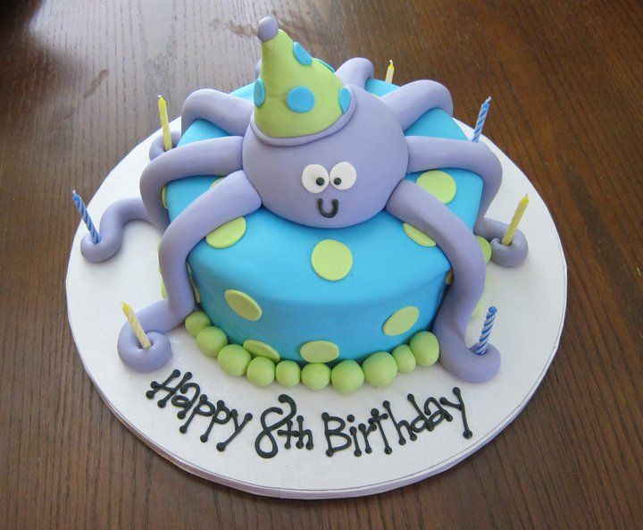 Octopus Cake Holding 8 Candles Perfect For An 8th Birthday Cake By