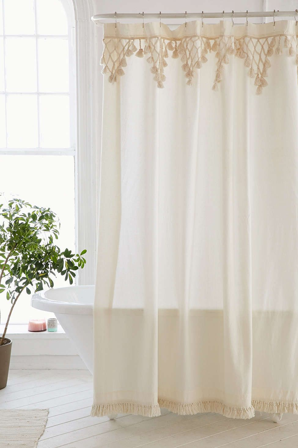Topanga Fringe Shower Curtain Urban Outfitters Curtains Shabby