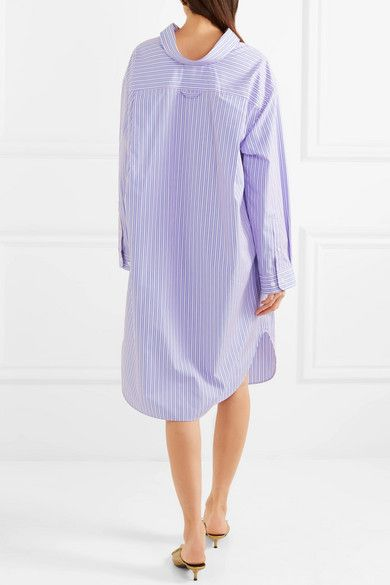 Oversized Striped Cotton-poplin Shirt Dress - Blue Balenciaga Discount Hot Sale Cheap Low Price Fee Shipping With Paypal Low Price High Quality Buy Online Sale Best Seller JLe22RzRJz