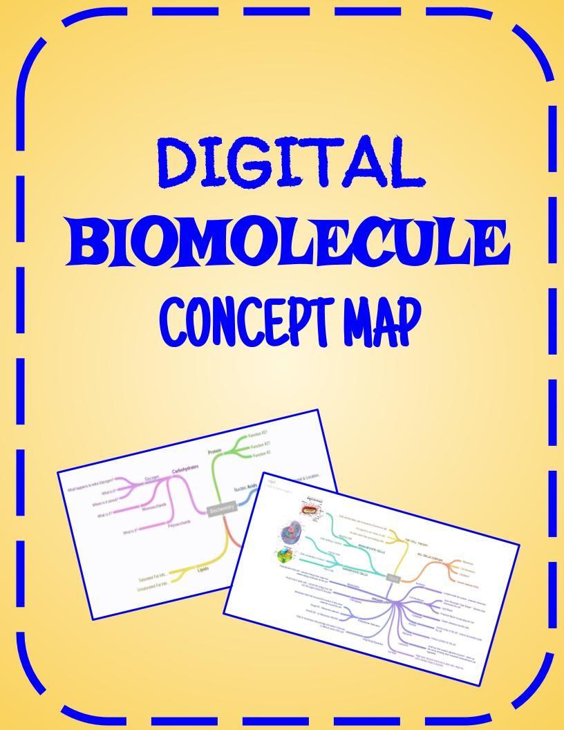 Proteins Concept Map.Biomolecule Concept Map Biology Biomolecules Pinterest