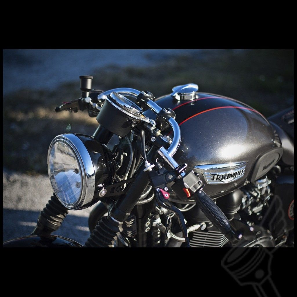 "1"" satin black dcc original ""speed"" clubman handlebars | dcc orignal"