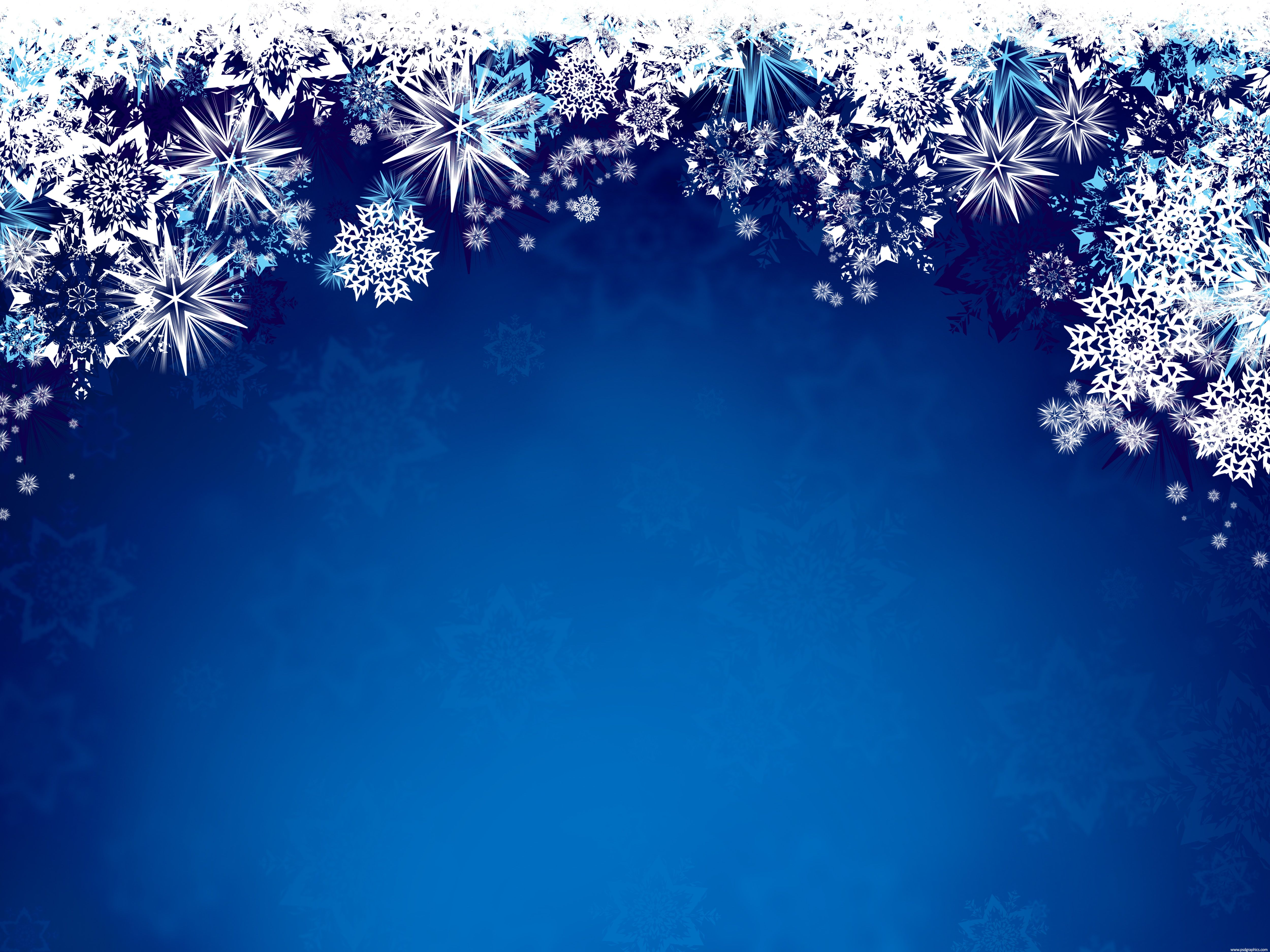 Blue Winter magic winter snowflakes grungy winter design