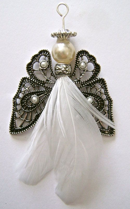 feathered angel ornaments — Domestic-Diva