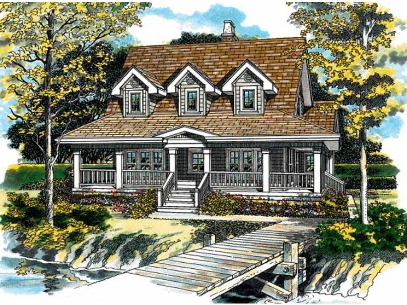 Victorian Style House Plan - 3 Beds 2 Baths 1715 Sq/Ft ...
