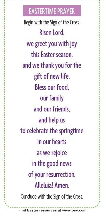 Use This Prayer At Dinner Throughout The Easter Season