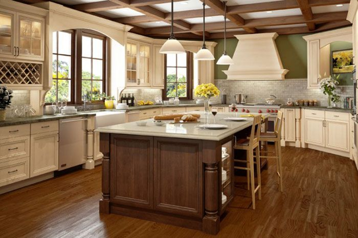 "Alt=""white glazed kitchen cabinets pictures""   Kitchen ..."