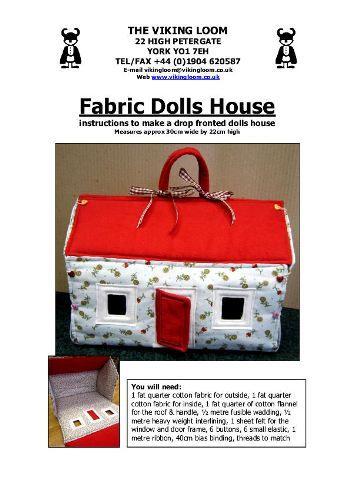 Make a Fabric Dolls House Pattern