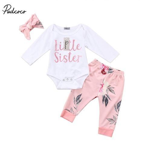 76625967c Children Clothes 2018 Spring Autumn Baby Girls Clothes Set T-shirt+ ...